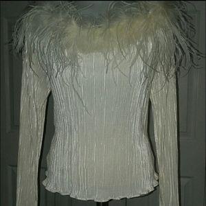 Sateen Marabou Feather Sweater